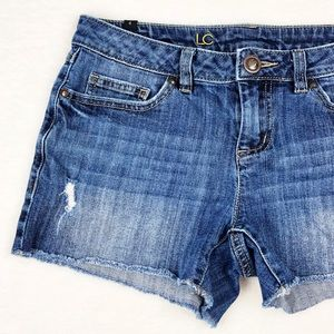 LC Lauren Conrad Distressed Jean Shorts